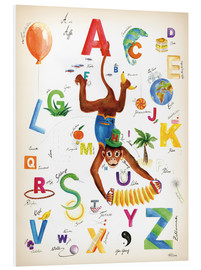 Foam board print  ABC Alphabet animals, colours and more - Heike Udes