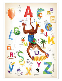 Premium poster ABC Alphabet animals, colours and more