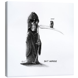 Canvas print  Shit Happens - Death and Little Fogey - Stefan Kahlhammer