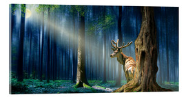 Acrylic print  The Deer In The Mystical Forest - Monika Jüngling