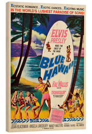 Wood print  Blue Hawaii