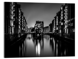 Acrylic print  Hamburg by night (monochrome) - Sascha Kilmer