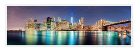 Premium poster  New York City Skyline, panoramic view - Sascha Kilmer