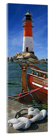 Acrylic print  The Lighthouse In The Harbor - Monika Jüngling