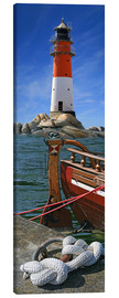 Canvas print  The Lighthouse In The Harbor - Monika Jüngling