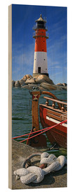 Wood  The Lighthouse In The Harbor - Monika Jüngling