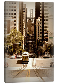 Canvas print  SAN FRANCISCO California Street - Melanie Viola