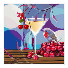 Premium poster Vintage Birdy Cocktail IV