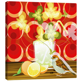 Canvas print  Vintage Birdy Cocktail III - Mandy Reinmuth