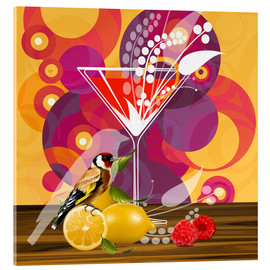 Acrylic print  Vintage Birdy Cocktail I - Mandy Reinmuth