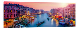 Acrylic print  Venice panorama at sunset - Jan Christopher Becke