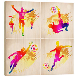 Wood print  Soccer and Winner Silhouette - TAlex