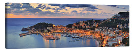 Canvas  Port Soller Mallorca at night - Fine Art Images