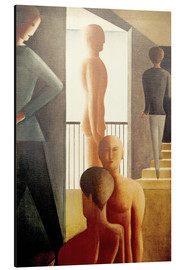 Alu-Dibond  Five men in the room - Oskar Schlemmer