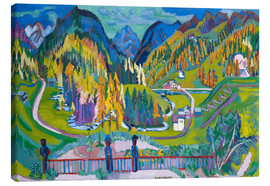 Canvas  Sertigtal in autumn - Ernst Ludwig Kirchner