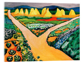 Acrylic print  Vegetable Fields - August Macke