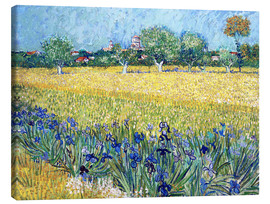 Canvas print  View of Arles with irises in the foreground - Vincent van Gogh