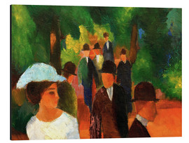 Aluminium print  Promenade (with white girl) - August Macke