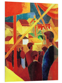 Foam board print  Tightrope walker - August Macke