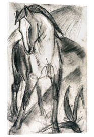 Acrylic glass  Young Horse in Mountain Landscape - Franz Marc