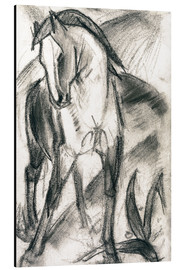 Alu-Dibond  Young horse in mountain landscape - Franz Marc