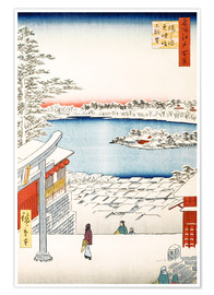 Premium poster View from the hill of the shrine Yushima Tenjin