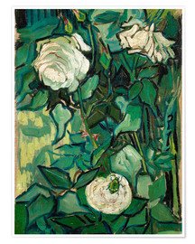 Premium poster  Roses and Beetle - Vincent van Gogh