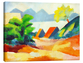 Canvas print  By the lake Thun I - August Macke
