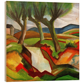 Wood print  Willows by the Brook - August Macke