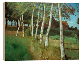 Wood print  Birches in the marsh - Otto Modersohn