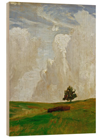 Wood print  Mountains of clouds - Otto Modersohn