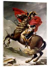 Acrylic glass  Napoleon crossing the Alps - Jacques-Louis David
