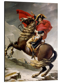 Aluminium print  Napoleon crossing the Alps - Jacques-Louis David