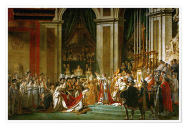 Premium poster The Coronation of Napoleon
