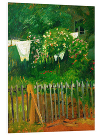 Foam board print  Laundry in the garden in Kandern - August Macke