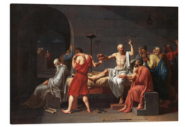 Aluminium print  The Death of Socrates - Jacques-Louis David