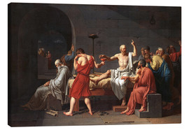 Canvas print  The Death of Socrates - Jacques-Louis David