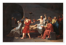 Premium poster  The Death of Socrates - Jacques-Louis David