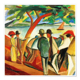 Premium poster  Stroller on the lake - August Macke