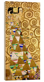Wood print  The Tree of Life (The Expectation) - Gustav Klimt