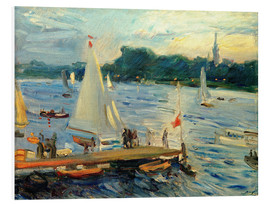 Forex  Sailboats on the Alster Lake in the evening - Max Slevogt