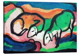 Canvas print  Sheep - Franz Marc