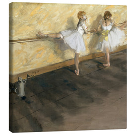 Canvas print  Dancers at the ballet bar - Edgar Degas