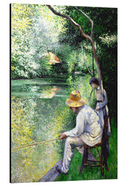 Aluminium print  Angler - Gustave Caillebotte