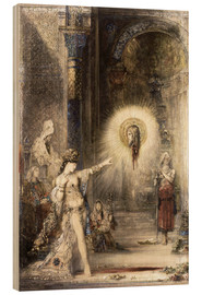 Wood print  The Apparition - Gustave Moreau