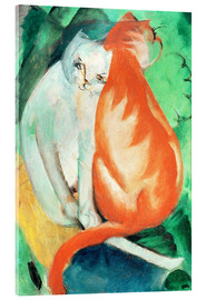 Acrylic glass  Cats, red and white - Franz Marc
