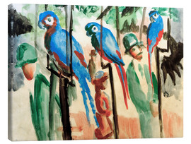 Canvas print  Among the parrots - August Macke