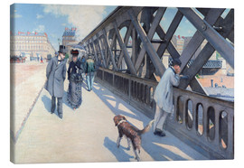 Canvas print  On the Europabrücke - Gustave Caillebotte