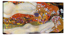 Canvas print  Water serpents II - Gustav Klimt