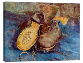 Canvas print  The Shoes - Vincent van Gogh